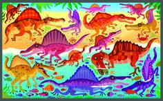 Look and Find Dinosaurs - Gareth Lucas #dinosaurs #trex #pteranodon #argentinosaurus #diplodocus #gigantosaurus #spinosaurus #look #find #picture #puzzle #activitybook #childrensbook #illustration #kidlitart #garethlucas