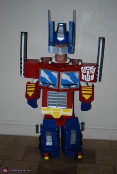 Transformer Optimus Prime - Homemade costumes for boys