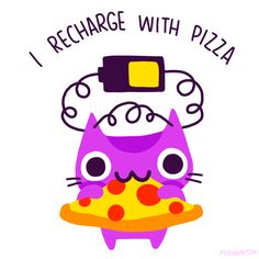Pizza cat #gif for ADHD by Cindy Suen