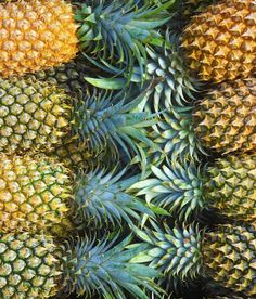Perfect pineapples.