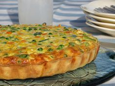 Cocina Sin Gluten: Masa Básica para Tarta Salada (sin huevo) Sem Lactose, Lactose Free, Gluten Free Cakes, Gluten Free Recipes, Quiches, Veggie Recipes, Cooking Recipes, Veggie Food, Healthy Snacks