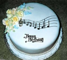 I like the wavyness! Cakes To Make, How To Make Cake, Music Themed Cakes, Music Cakes, Gorgeous Cakes, Amazing Cakes, Cake Icing, Cupcake Cakes, Cake Making Supplies