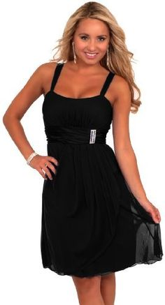 $40 Black Sleeveless Rhinestone Empire Waist Sheer Layer Evening Cocktail Party Dress Hot from Hollywood, http://www.amazon.com/dp/B00997L6R6/ref=cm_sw_r_pi_dp_oNjdrb1HW3YKS