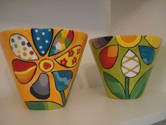 Pin on Painted Pots Flower Pot Art, Flower Pot Design, Flower Pot Crafts, Clay Pot Crafts, Paint Garden Pots, Painted Plant Pots, Painted Flower Pots, Ceramic Pots, Terracotta Pots
