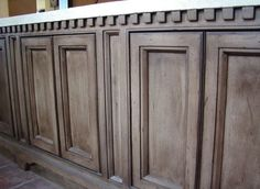 rustoleum weathered gray stain on knotty alder cabinets - Google Search
