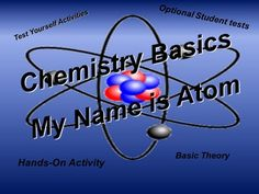My Name is Atom: Basic Chemistry – Education Science Worksheets, Science Resources, Alphabet Worksheets, School Resources, Science Lessons, Science Activities, Classroom Activities, Teacher Resources, Science Education