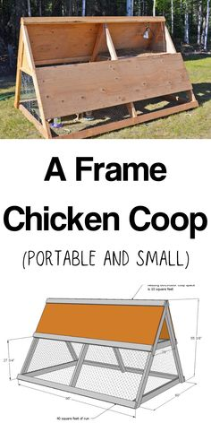 A Frame Chicken Coop Tractor Easy Diy Projects, Wood Projects, Project Ideas, A Frame Chicken Coop, Chicken Coops, Somebunny Loves You, Build A Frame, Bed Plans, Coop Plans