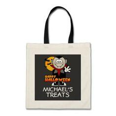 Personalized custom design Halloween Treat Bag. get it on : http://www.zazzle.com/personalized_halloween_treat_bag-149067747654884023?rf=238054403704815742