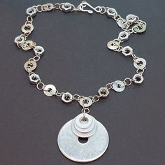 Industrial Hardware Jewelry Silver Upcycled Washer by Tanith