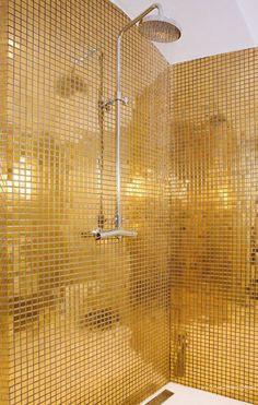 Gold color batroom inspiration