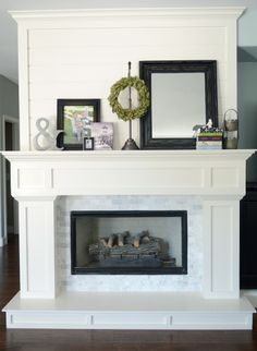 Fireplace DIY Drab to Fab Fireplace makeover Mantels Marbles