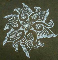 Indian Rangoli Designs, Simple Rangoli Designs Images, Rangoli Designs Flower, Rangoli Patterns, Rangoli Border Designs, Rangoli Ideas, Rangoli Designs With Dots, Kolam Rangoli, Beautiful Rangoli Designs