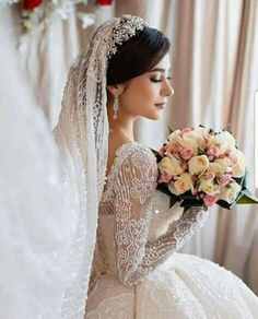 Wedding Dress With Veil, Dream Wedding Dresses, Wedding Poses, Wedding Tips, Bridal Portrait Poses, Cool Girl Pictures, Girl Photo Poses, Urdu Quotes, Weeding