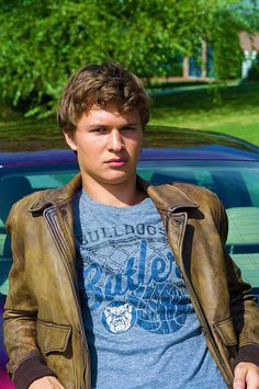 Ansel Elgort is so hot! And I want that shirt. It looks great on him! I go to butler!