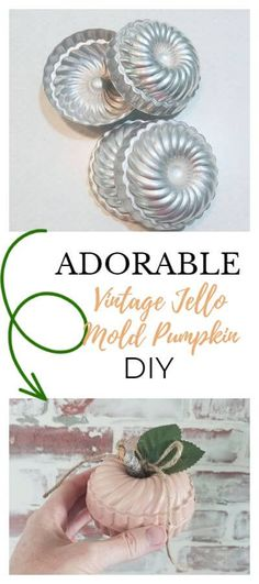 Mold Spray, Vintage Jello Molds, Dollar Tree Pumpkins, White Spray Paint, Dollar Store Hacks, Vintage Halloween, Halloween Ideas, Fall Crafts, Craft Projects