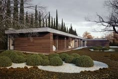 L shaped House and Garden l shaped house garden6