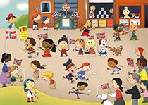 Resources for children about 17.mai, Norway's Constitution Day.