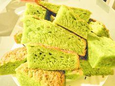 Banh bo nuong ..Gâteau moelleux au pandan et lait de coco
