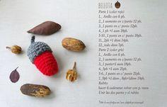 Patrón Bellota Crochet/ crochet acorn pattern free