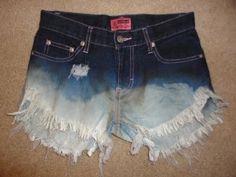 DIY distressed jean shorts!!!