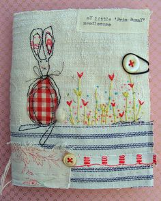 stitched needle book