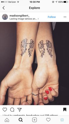 Angel wing tattoo tattoo ideas with mom elbow tattoos, tatto Wing Tattoos On Wrist, Elbow Tattoos, Small Wrist Tattoos, Love Tattoos, Body Art Tattoos, Angel Wing Tattoos, Tatoos, Small Tattoos For Guys, Arm Tattoos For Women
