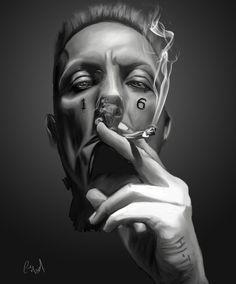 Die Antwoord, Ice Art, Tattoo Sketches, Ninja, Black And Grey, Tattoo Designs, Deviantart, Tattoos, Face