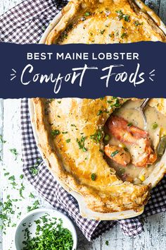 Many associate Maine Lobster with summertime, but it's essential to many of our favorite comfort food recipes when the weather cools down. Learn all our favorite ways to prepare lobster and get recipes to try year-round.   Lobster Dishes, Lobster Recipes, Fish Dishes, Shellfish Recipes, Seafood Recipes, Cooking Recipes, Dinner Recipes, Pasta, Seafood Dinner