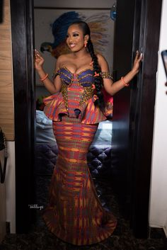 African Traditional Wedding Dress, African Wedding Dress, African Print Dresses, African Print Fashion, African Wear, African Attire, African Fashion Dresses, Traditional Outfits, Fashion Outfits