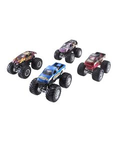 This Hot Wheels Monster Jam Tour Favorites Set by Monster Jam is perfect! Monster Jam, Monster Trucks, Truck Cakes, Play Vehicles, Hot Wheels Cars, Gifts For Boys, Kids Christmas, Diecast, Tours
