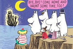 Moomin postcard from Japan — perfect for Halloween!