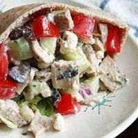 Had this at a lovely friend's dinner party and it was FANTASTIC!   It's All Greek Chicken Salad to Me - ALTON BROWN