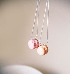 2 BFF Silver-plated Macaron Necklaces. $19.90 cute