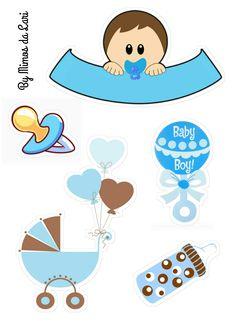Dibujos Baby Shower, Imprimibles Baby Shower, Baby Shower Clipart, Scrapbook Bebe, Baby Boy Scrapbook, Newborn Crafts, Baby Crafts, Unisex Baby Shower, Baby Boy Shower