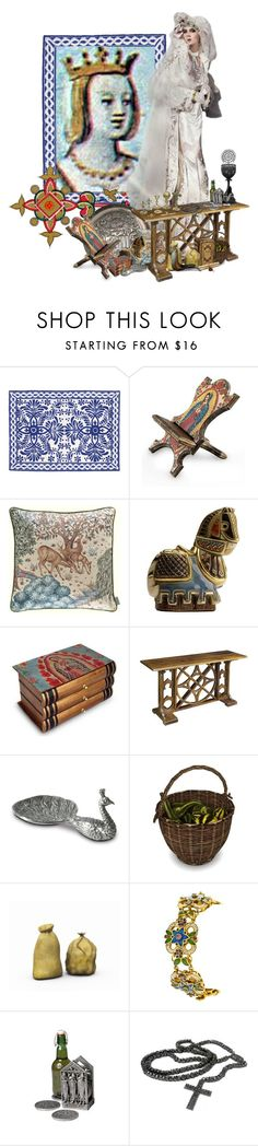 """Elvira of Castile, Queen of León"" by sh0shan ❤ liked on Polyvore featuring Garcia, Thos. Baker, NOVICA, Christopher Knight Home, Vagabond House and modern"