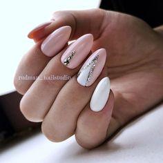 Nail Design Ideas - Photos, Videos, Lessons, Manicure - Nagellack - Herrlich Hair and Nail-Ideen Love Nails, Pink Nails, My Nails, Pink White Nails, Crazy Nails, Fancy Nails, Fabulous Nails, Perfect Nails, Nagellack Design