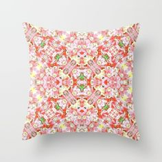 K-196 Abstract Pink Flowers Throw Pillow by #Gravityx9. Worldwide shipping available at Society6.com. Just one of millions of high quality products available.