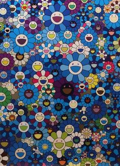 Takashi Murakami, An Homage to IKB, 1957 C, 2012 on Paddle8