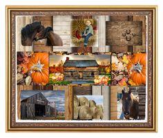 Fall On The Farm by samantha-lorraine on Polyvore featuring art, contest, integrityTT, EtsySpecialT and fallonthefarm