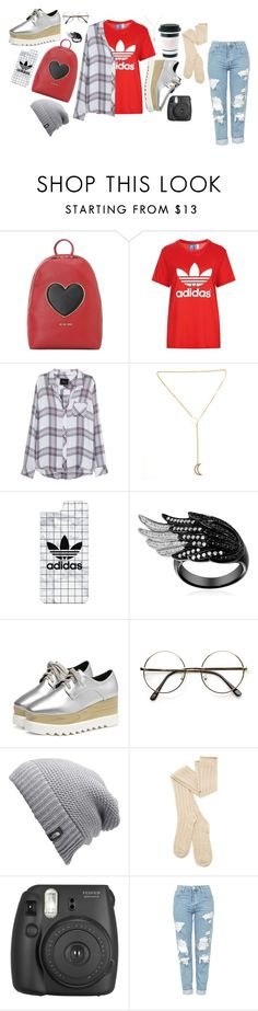 """""""aesthetic 6"""" by ashyrosepetal on Polyvore featuring Love Moschino, Topshop, Rails, Casetify, ZeroUV, The North Face and Fujifilm"""
