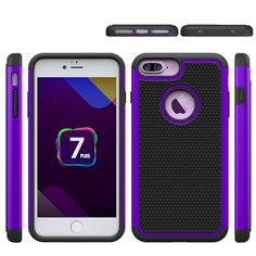 Ball Pattern Rugged Armor iPhone 7 Plus Dual Layer Hybrid Shockproof Protective Case