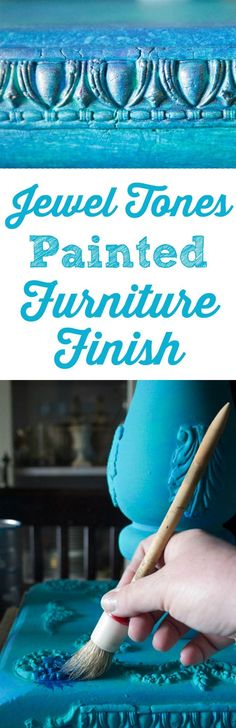 Jewel Tones Painted Furniture Finish - Easy! - Thicketworks for Graphics Fairy. A beautiful technique, perfect for DIY Home Decor projects!