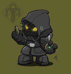 """"""" Been working on non destiny content so haven't been as active but here is a little guy I finished this morning. Destiny Cayde 6, Destiny Hunter, Destiny Bungie, Fallout 4 Weapons, Character Art, Character Design, Cute Chibi, Video Game Art, Comic Book Characters"""