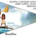 Banderinha Sanduiche 5 Kit Moana