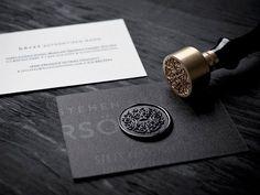 Elegant Business Card - Hörst #BusinessCardMaker
