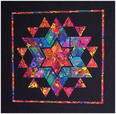 New Vibrant STAR Quilt Pattern 46½ x 46½