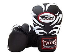 Twins Special Muay Thai Fancy Boxing Gloves Leather Black Tattoo 16 oz. Boxing Gloves. Boxing accessories. Fight gloves. Sparring gloves. Training gloves. It's an Amazon affiliate link.
