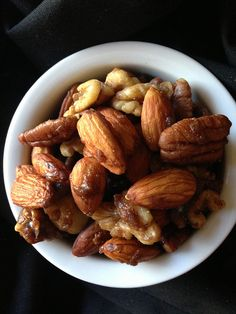 Sweet and Spicy Nuts. Yum!