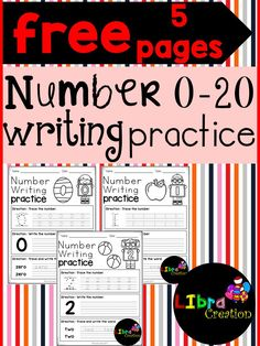 Free 5 Pages !!! This product will teach your little learner to learn the first step of numbers. They will learn how to trace the number and the word number. Preschool, Preschool Worksheets, Kindergarten, Kindergarten Worksheets, Number, Number Writing Practice, Number Trace & Color, Number Color & Sort, Number Count & Match, Number Activities, Number Worksheet.