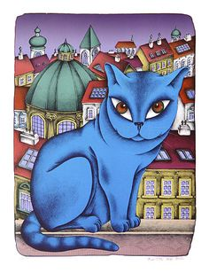 - paintings, books and cats of naive artist from Czech Republic. Crazy Cat Lady, Crazy Cats, Cat Party, Naive, Love Art, My Friend, Friends, Drawings, Artist
